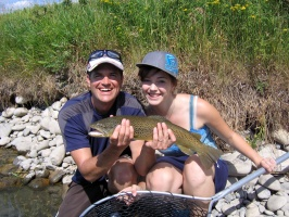 There are three fly fishing methods that can be used to generally describe Bow River fly fishing tactics: nymphing, chucking dry flies and stripping streamers.