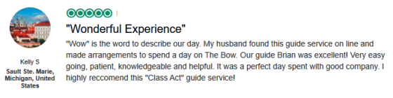 Here's a review from one of our satisfied clients.  Click here for more testimonials.
